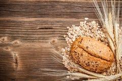 Chlebowa rolka i weath Obrazy Royalty Free