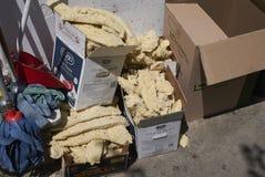 Chlebowe kruszki pozostawione zdjęcia royalty free