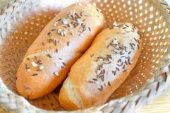 Chlebowe rolki z solą i karolkiem Fotografia Royalty Free