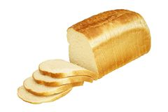 chlebowego bochenka pokrojony biel Zdjęcia Stock