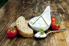 chlebowego curd obiadowy świeży ziele Fotografia Stock