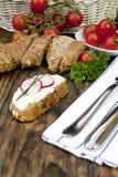 chlebowego curd obiadowy świeży ziele Zdjęcia Stock