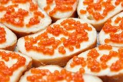chlebowego masła kawioru karmowa wyśmienita czerwień Zdjęcia Royalty Free