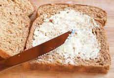 chlebowego masła zdrowy smakowity wholewheat Zdjęcie Royalty Free