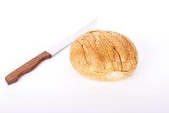 chlebowego noża bochenka chlebowy biel Zdjęcie Stock