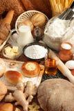 chlebowej mąkę mleko oleju zdjęcie royalty free