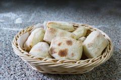 Chlebowej rolki jedzenia restauracja Fotografia Stock