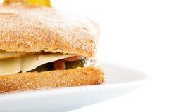 Chlebowej rolki kanapki zbliżenie Obrazy Stock