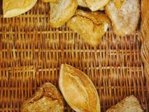 Chlebowej rolki kosz Fotografia Royalty Free