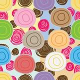 Chlebowej słodkiej rolki pasty bezszwowy wzór royalty ilustracja