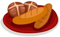 chlebowi ciastka ilustracji