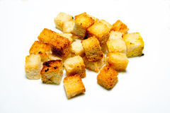 Chlebowi croutons Zdjęcie Royalty Free