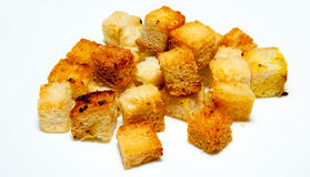 Chlebowi croutons Obrazy Royalty Free