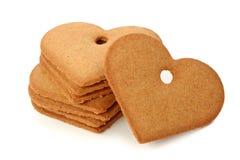 chlebowi imbirowi serca Zdjęcia Royalty Free