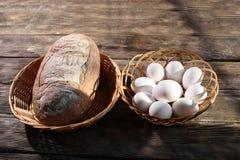 chlebowi jajka Obrazy Royalty Free