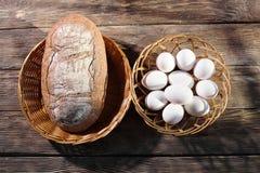 chlebowi jajka Zdjęcie Royalty Free