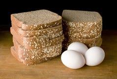 chlebowi jajka Fotografia Royalty Free