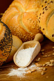 Chlebowi składniki Zdjęcia Stock