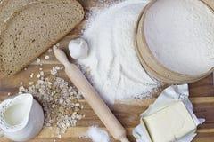 Chlebowi składniki Obrazy Royalty Free