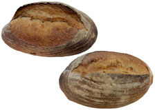 chlebowy świeży odosobniony biel Obrazy Stock