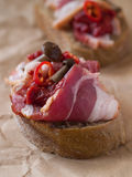 chlebowy chili mięsny pieczarek pieprz fotografia royalty free