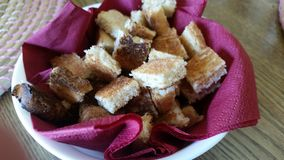 Chlebowy Crutons Zdjęcia Stock