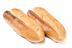 chlebowy francuski bochenek dwa Fotografia Royalty Free