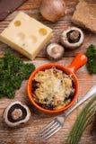 Chlebowy i serowy souffle obrazy royalty free