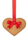 chlebowy imbirowy serce Zdjęcie Royalty Free
