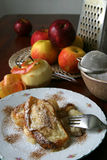 chlebowy jabłko pudding Obrazy Royalty Free