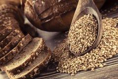 Chlebowy jedzenia i banatki pojęcia tło Obrazy Royalty Free