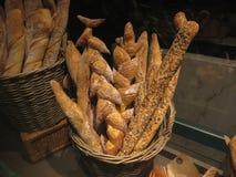 Chlebowy jedzenie na pokazie dla sprzedaży Zdjęcia Royalty Free