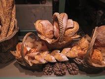 Chlebowy jedzenie na pokazie dla sprzedaży Fotografia Stock