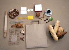 Chlebowy karmowy piekarni brązu zakończenia torta precel Zdjęcie Royalty Free