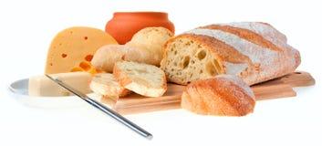 chlebowy masła noża kawałek obrazy stock
