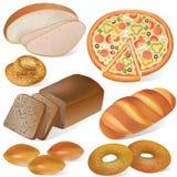 chlebowy piekarnia set Fotografia Royalty Free