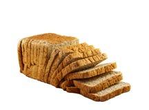 Chlebowy plasterek biały tło Obraz Royalty Free