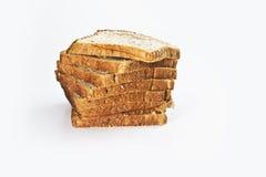 Chlebowy plasterek w rzędzie Obrazy Stock