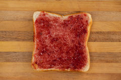Chlebowy plasterek z dżemem Zdjęcie Royalty Free