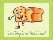 Chlebowy plasterek z szczęśliwą twarzą ilustracja wektor