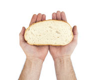 chlebowy ręk chwyta plasterek Obraz Stock