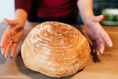 chlebowy round Zdjęcia Stock