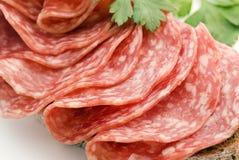chlebowy salami zdjęcie stock