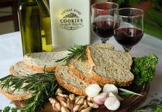 chlebowy wino Zdjęcie Royalty Free