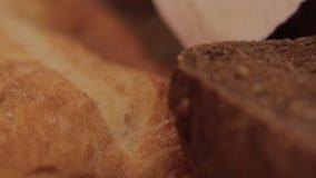 Chlebowy zbliżenie zbiory wideo