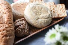chlebowy zboże i krakers Obrazy Royalty Free