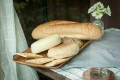chlebowy zboże i krakers Zdjęcia Royalty Free
