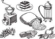 chlebowych różnych karmowych gradientów ilustracyjni ustaleni przezroczystość typ wektor Fotografia Royalty Free