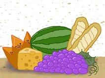 chlebowych różnych karmowych gradientów ilustracyjni ustaleni przezroczystość typ wektor Obraz Royalty Free