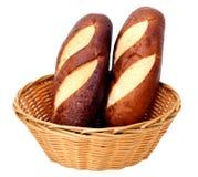 Chleby w koszu Zdjęcia Royalty Free
